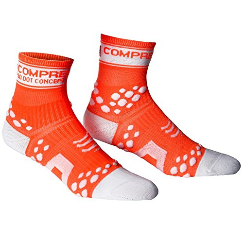 Calze compressione Compressport Proracing Run,Fluo Blue ,40/42 (T3)