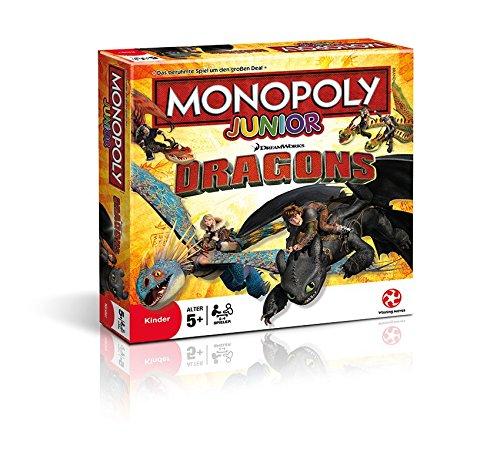 Winning Moves 43539 – Junior Monopoly – Drachen zähmen leicht gemacht, Brettspiel
