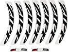 ZIPP Decal Set 404 Black Logo Complete for One Tubular or Carbon Clincher