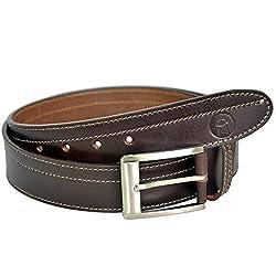 MOSPL Men's Leather Belt (OMBT3014_Brown_44)