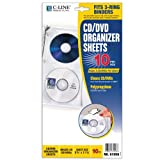 C-Line Deluxe CD Ring Binder Storage Pages for Standard 3-Ring Binders, Stores 4 CDs/Page, 5-13/16 x 11-1/16 Inches, 10 Pages per Box (61958)