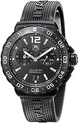 TAG Heuer Men's WAU111D.FT6024 Analog Display Quartz Black Watch