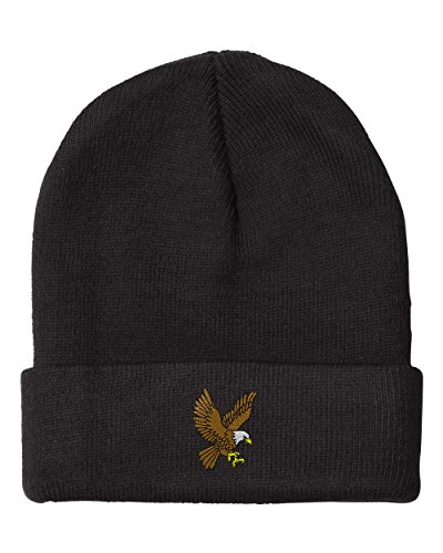 LANDING EAGLE SCHOOL MASCOT Embroidery Embroidered Beanie Skull Cap Hat