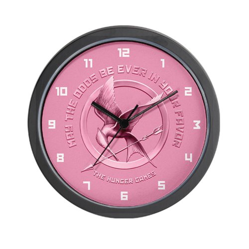 Hunger Games Pink Wall Clock by CafePress