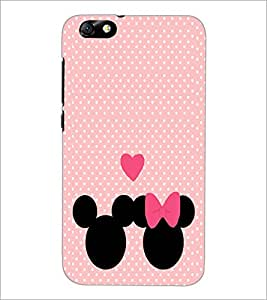 PrintDhaba Mickey and Minnie D-2237 Back Case Cover for HUAWEI HONOR 4X (Multi-Coloured)