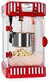 """Klarstein """"Volcano"""" Profi Popcorn-Maschine Popcorn Maker mit Edelstahl-Topf (300W Power, 60 Liter Popkorn pro Std, integr. Heizsystem & Rührwerk, 50er Jahre Retro Cinema-Optik, kurze Aufheizzeit) rot"""