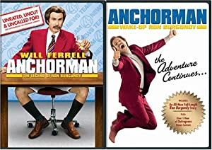 Anchorman - The Legend of Ron Burgundy Giftset (Widescreen Unrated Edition & Wake Up, Ron Burgundy)