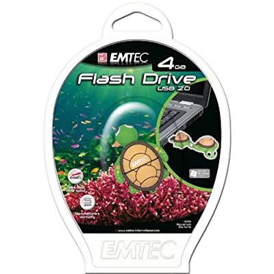 EMTEC Animal Series Aquarium 4 GB USB 2.0 Flash Drive, Sea Turtle