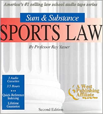 "Sports Law (Set of 3 Audio Cassettes) (The ""Outstanding Professor"" Audio Tape Series)"