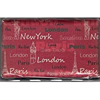 London Paris New York Hard Case Credit Card Wallet