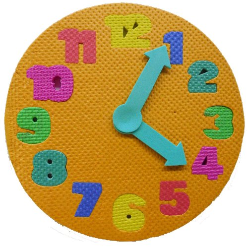 Foam Clock Puzzle - Baby's Learning and Development Toy - 1