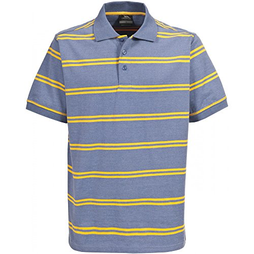 Trespass Mens Vacate Striped Short Sleeve Polo Shirt (XL) (Moonlight Blue Marl)