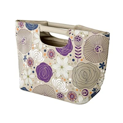 Insulated Lunch Tote - Nouveau Flowers in Sol style