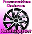 Radkappen Radblenden Radzierblenden Quad Bicolor Schwarzsilber 15 15 Zoll 1 Satz 4 Stck von NRM