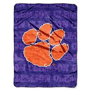 Buy NCAA Clemson Tigers 46-Inch-by-60-Inch Micro-Raschel Blanket, Grunge Design by Northwest