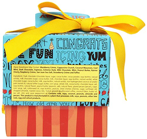 Seattle Chocolates Gift Box, Happy Birthday, 6 Ounce Food