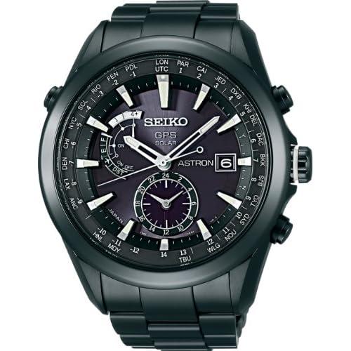 [セイコー]SEIKO 腕時計 SEIKO ASTRON アストロン ソーラー GPS 衛星電波修正 ブライトチタン 黒×白ダイヤルサファイアガラス スーパークリアコーティング 日常生活用強化防水 (10気圧防水) SBXA007 メンズ