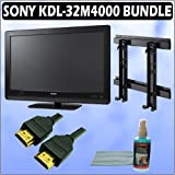 Sony Bravia M-Series KDL-32M4000 32-inch 720P LCD HDTV and Accessory Outfit Outfit With Wall Mount,