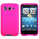 Hot Pink Rubberized Soft Silicone Skin Cover Case for AT&T Wireless New HTC Inspire 4G Android Smartphone