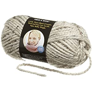Image: Lion Brand Yarn Wool-Ease Thick and Quick Yarn - Perfect for extra warm sweaters, jackets, vests, slippers and hats; It's an ideal beginner yarn