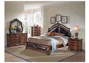 com morocco pecan 7 pc king bedroom package bedroom furniture sets