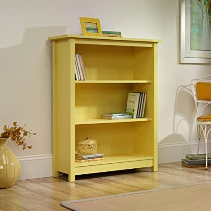 Sauder Original Cottage Bookcase, Melon Yellow Finish