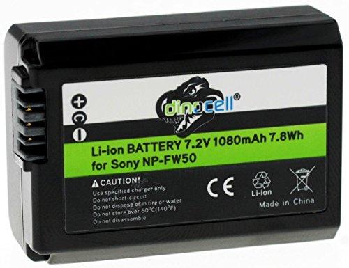 """Dinocell® 1080mAh Akku Batterie wie original Sony NP-FW50 (echte 1080mAh) mit Infochip - Intelligentes Akkusystem - 100% kompatibel """"neueste Generation"""" für original Sony ILCE XQ1 Alpha 5000 5100 6000 Alpha 7 CyberShot DSC RX10 -- Sony NEX-6 NEX-F3 NEX-7 NEX-7B NEX-7C NEX-7K NEX-3 NEX-3N NEX-C3 Nex-5 NEX-5N NEX-5K NEX-5R -- SLT A55 A33 A35 A37 A3000"""