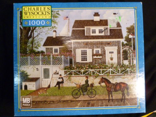 Charles Wysocki's Americana Puzzle in Spring an Old Man's Fancy 1000 Piece