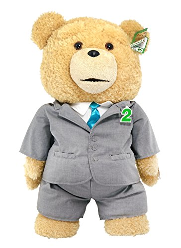 """Ted 2 Movie-Size Plush Talking Teddy Bear Explicit Doll in Suit, 24"""""""
