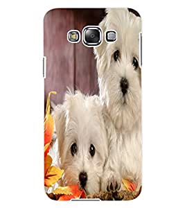 ColourCraft Cute Puppies Design Back Case Cover for SAMSUNG GALAXY E7