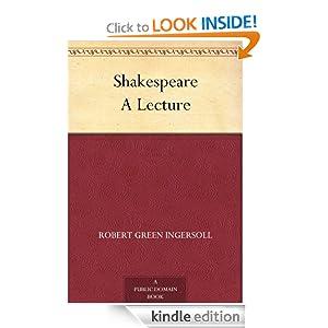 Shakespeare A Lecture Robert Green Ingersoll