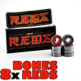Bones Reds Skateboard Bearings - Red