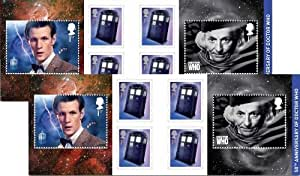 2 x 6 First Class (1st) Standard UK Postage Doctor Who Stamps Retail Book