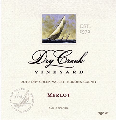 2012 Dry Creek Vineyard Merlot, Dry Creek Valley 750Ml