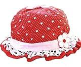 Ama-ZODE para niños de niña del corazón-diseño con la forma de los niños diseño de flores Pop Gate de la colmena tapas flor sobre puesta de sol sombreros de fiesta de rosso Talla:pequeño