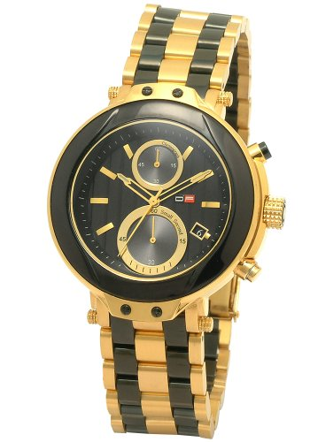 DFactory Men's DFU011JBC Black Label Black Dial Bracelet Chronograph Watch