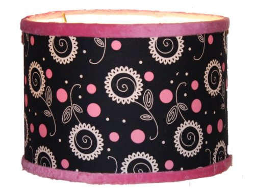 Thank You Baby Madison Girl Pink Black Lamp Shade