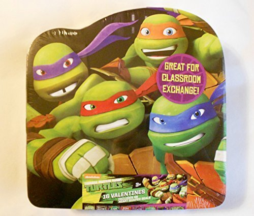 Teenage Mutant Ninja Turtles Valentines Cards (16 Count) and Keepsake Box - Classroom Exchange
