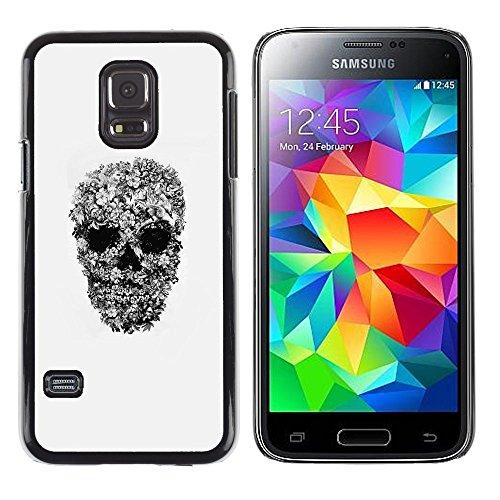 Copertura di plastica Shell Custodia protettiva || Samsung Galaxy S5 Mini, SM-G800, NOT S5 REGULAR! || Rock Roll Metal Heavy Skull Biker Art @XPTECH