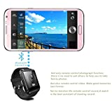 Geekbuying U8 Bluetooth Smart Watch Perfect fit for Android Smartphone Galaxy S5/S4/S3 Note3/Note2 HTC Motorola LG - Only Basic function for iPhone 5S/5C/5/4S/4 + Geekbuying NFC Tags Sticker