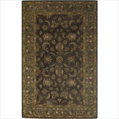 Taj Palace Slate / Sage Allover Kashan Oriental Rug Size: 5' x 8'