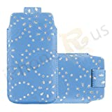 IPhone R Us® XL - Superior Glitter PU Soft Leather Pull Flip Tab Case Cover Pouch For Acer Liquid E2 -13 Colours To Pick From (Baby Blue)