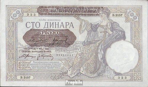 serbie-allemandocc2wk-rosenbg-601-surcharge-avec-serbischem-crest-1941-100-dinar-yougoslavie-billets