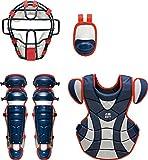 ZETT(ゼット) 野球 軟式 キャッチャー防具4点セット(J.S.B.B) ネイビー×レッド BL316