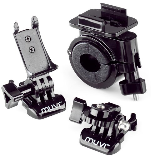 Veho VCC-A006-PHM Professional Handlebar and Helmet Mount for MUVI Atom and MUVI Atom NPNG (Black)