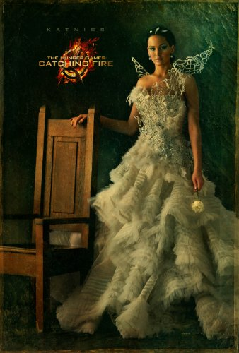 "Hunger Games: Catching Fire (2013) Movie Poster Reprint 13"" x 19"" Borderless SHIPS FLAT! Katniss"