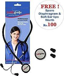 Healthgenie Mono Nurses Stethoscope HG-101 B (Black)...