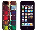 Colorful Painter's Tray Embossed Slim Fit Hard Case for Apple iPhone 5, 5G (AT&T, Verizon, Sprint, International) - Includes DandyCase Keychain Screen Cleaner [Retail Packaging by DandyCase]