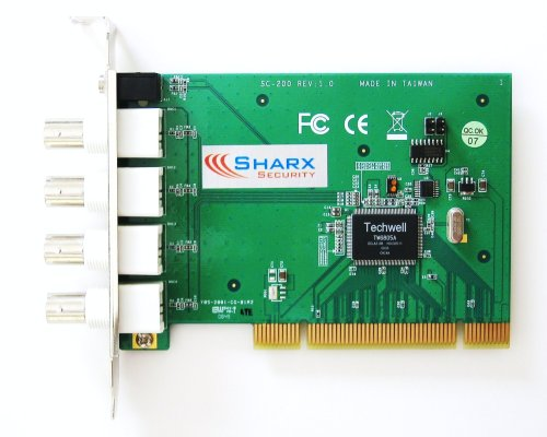 Sharx Security SCXSC200 4 Channel PCI Digital Video Recorder DVR and Remote Internet Access Card with Windows 7 Driver and Software