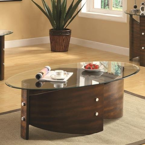 Coaster Home Furnishings 701748 Contemporary Coffee Table, Cappuccino